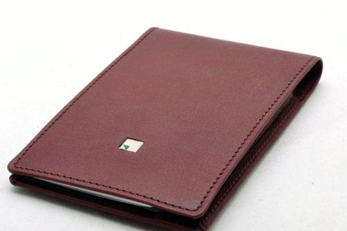 Taschennotizblock aus Saddle Leder