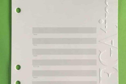 Deckblatt Organizer a5