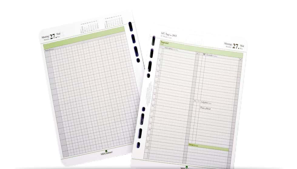 Kalenderblätter Nachfüllung für den MEGAtimer a5